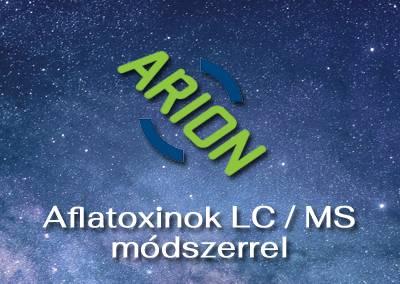 Aflatoxinok LC/MS módszerrel