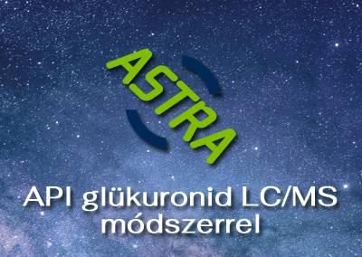 API glükuronid LC/MS módszerrel